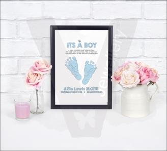 Personalised A4 Baby Silhouette Print