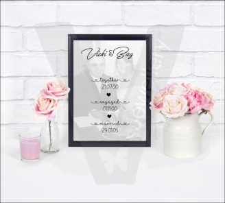 Personalised Together Engaged Married A4 Photo Print