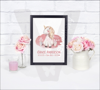 Personalised Unicorn A4 Print
