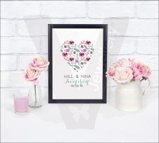 Personalised A4 Design In Heart Print