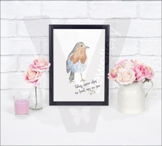 Personalised Watercolor Robin A4 Print