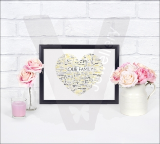 Personalised A4 Word-Art Print