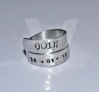 Personalised Hand Stamped 2 Wrap Ring *Higher Quality*