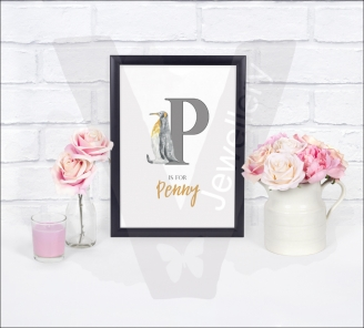 Personalised Animal Initial A4 Print
