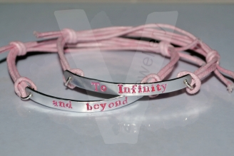 To Infinity and Beyond Hand Stamped Bracelet Set