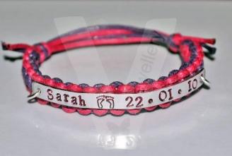 Personalised Shamballa Style Hand Stamped Bracelet