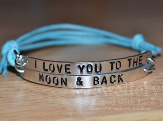 """I Love you to the Moon & Back"" Double Multi-Plate Bracelet"