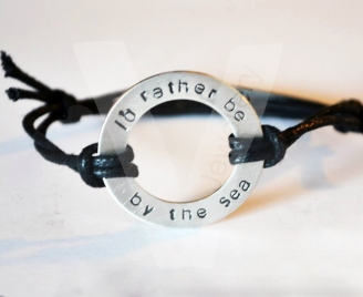 Personalised Hand Stamped Washer Bracelet