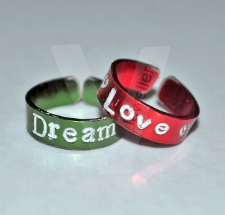 Personalised Colored Toe/Midi Rings *Set of 2*