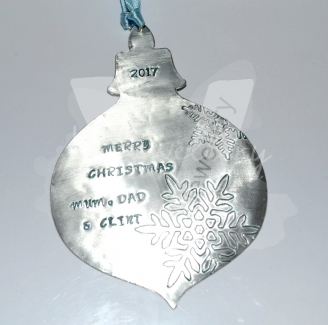 Personalised XL Bauble Christmas Decorations