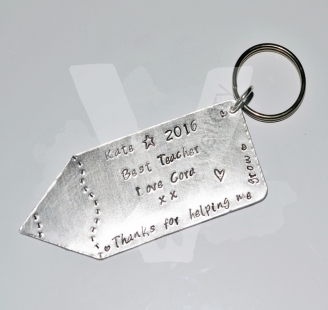 Personalised Etched Large Pencil Keyring