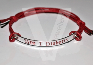 Medical Alert Hand Stamped Bracelet