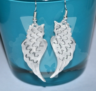 Large Angel Wings Dangle Earrings