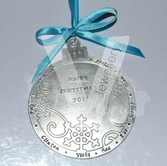 Personalised XL Snowflakes Bauble Christmas Decoration