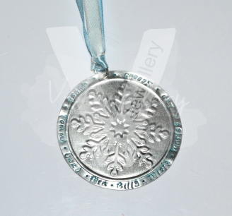 Personalised Embossed Snowflake Christmas Decoration