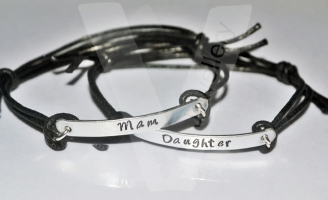 Mother & Daughter(s) Hand Stamped Bracelet Set