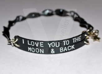 Personalised Colored Spiral Multi-Plate Hand Stamped Bangle