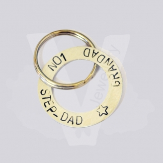 Personalised Hand Stamped Washer Keyring