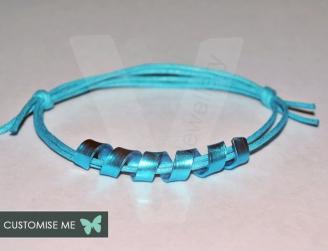 """Personalised Colored """"Secret Message"""" Wrap Bracelet"""
