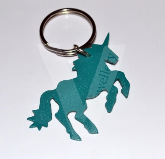 Flexi Plastic Colored Unicorn Keyring *Non Personalised*