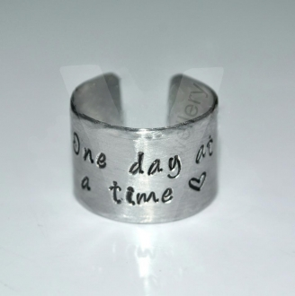 Personalised Wide Band Hand Stamped Ring