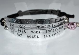 "Angel Baby ""footprints on my heart forever"" Multi-Plate Bracelet"
