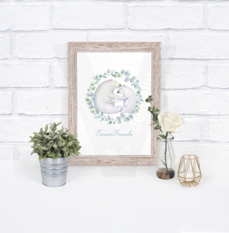 Personalised Animal Collection Watercolor A4 Print