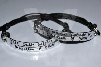 Mummy/Daddy belongs to... Multi-Plate Bracelet