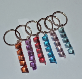 "Personalised Colored ""Secret Message"" Wrap Keyring"