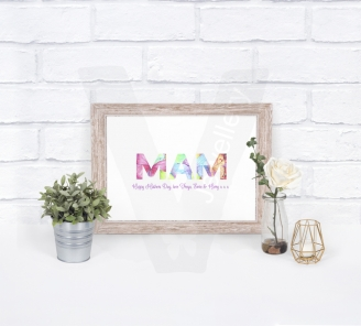 Personalised A4 Design In Text Print