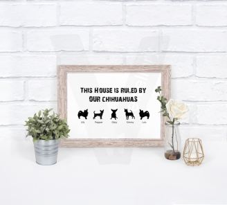 Personalised A4 Dog Breeds Silhouette Family Print