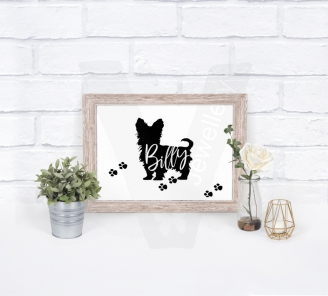 "Personalised A4 Dog Silhouette ""Name"" Print"