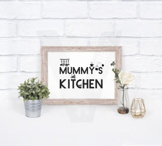 Personalised A4 Door / Wall Sign Silhouette Print