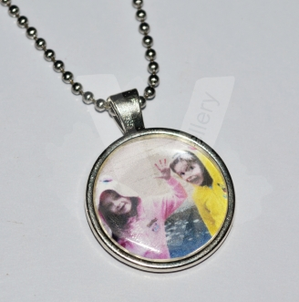 Personal Large Photo Charm Pendant 20""