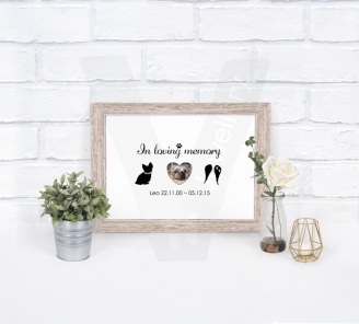 Personalised A4 In Memory Photo Silhouette Print