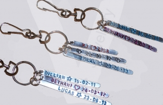 Personalised Multi-Plate Keyring / Bag Charm