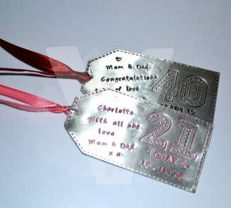 "Personalised Stitched Effect ""Special Day"" Large Gift Tag"