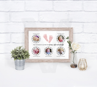 "Personalised ""Time Stood Still"" Clock A4 Print"