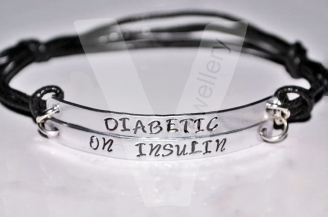 Diabetic Double Multi-Plate Bracelet