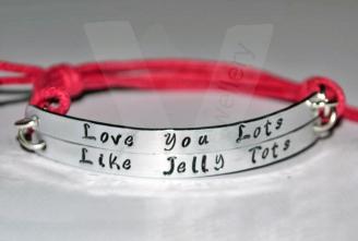 """""""Love You Lots Like Jelly Tots"""" Double Multi-Plate Bracelet"""