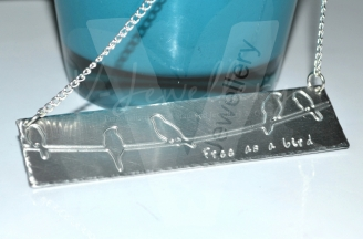 "Personalised ""Birds On Wire"" Statement Necklace"