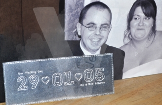 "Personalised Stitched Effect Xl ""Date"" Plaque"