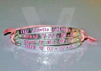 Aunty belongs to... Multi-Plate Bracelet