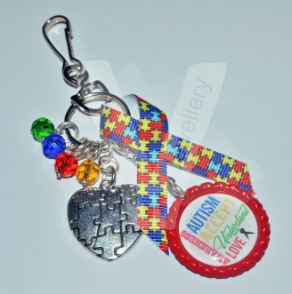 Autism Awareness Charms Keyring/Bag Charm