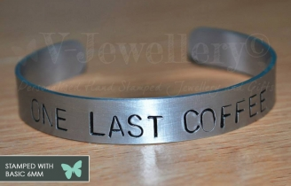 Personalised Hand Stamped Torque Bangle *BIG and BOLD*