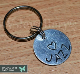 Personalised Hand Stamped Keyring *BIG and BOLD*