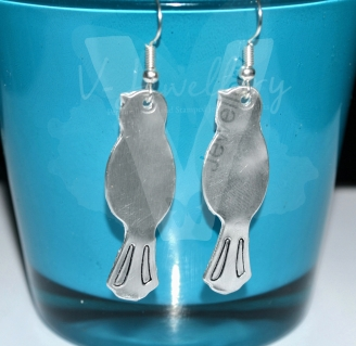 Long Bird Dangle Earrings