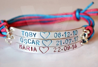 Personalised Triple Multi-Plate Hand Stamped Bracelet