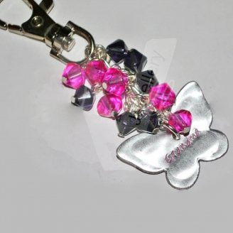 Personalised Glass Beaded Custom Shape Bag Charm