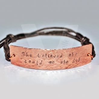 Personalised Textured Copper Cuff Bracelet *Hand Cut*
